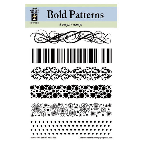 Hot Off the Press Bold Patterns Clear Stamp Set