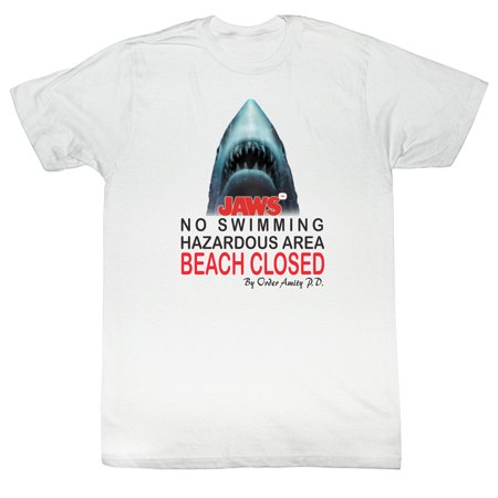Jaws Beach Closed Adult T-Shirt Tee - image 1 de 1