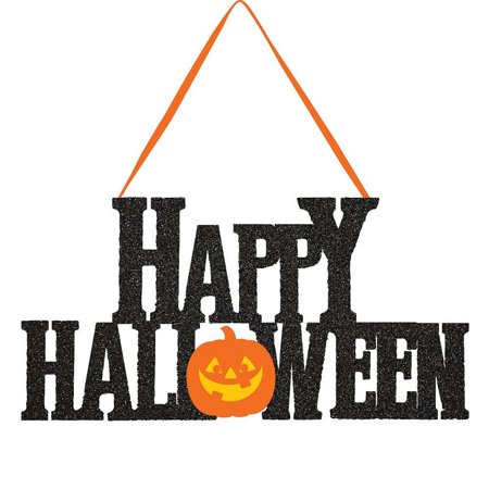 Creative Converting Happy Halloween Glitter Hanging - Happy Halloween Glitter Sign