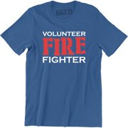 Firefighter Volunr Fire Rescue Thin Red Line Department Mens T-Shirt