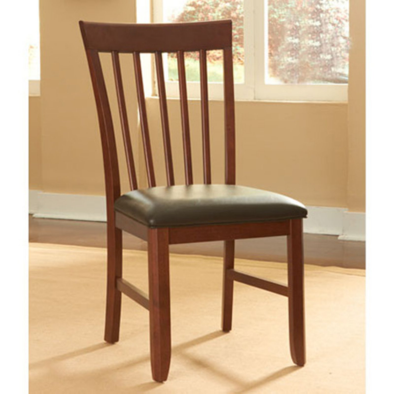 A-America Granite Convertible Slatback Upholstered Side Chairs - Set of 2