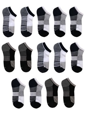 Athletic Works Boys Socks, 12+2 Bonus Pack No Show Half Cushioned Sizes S - L