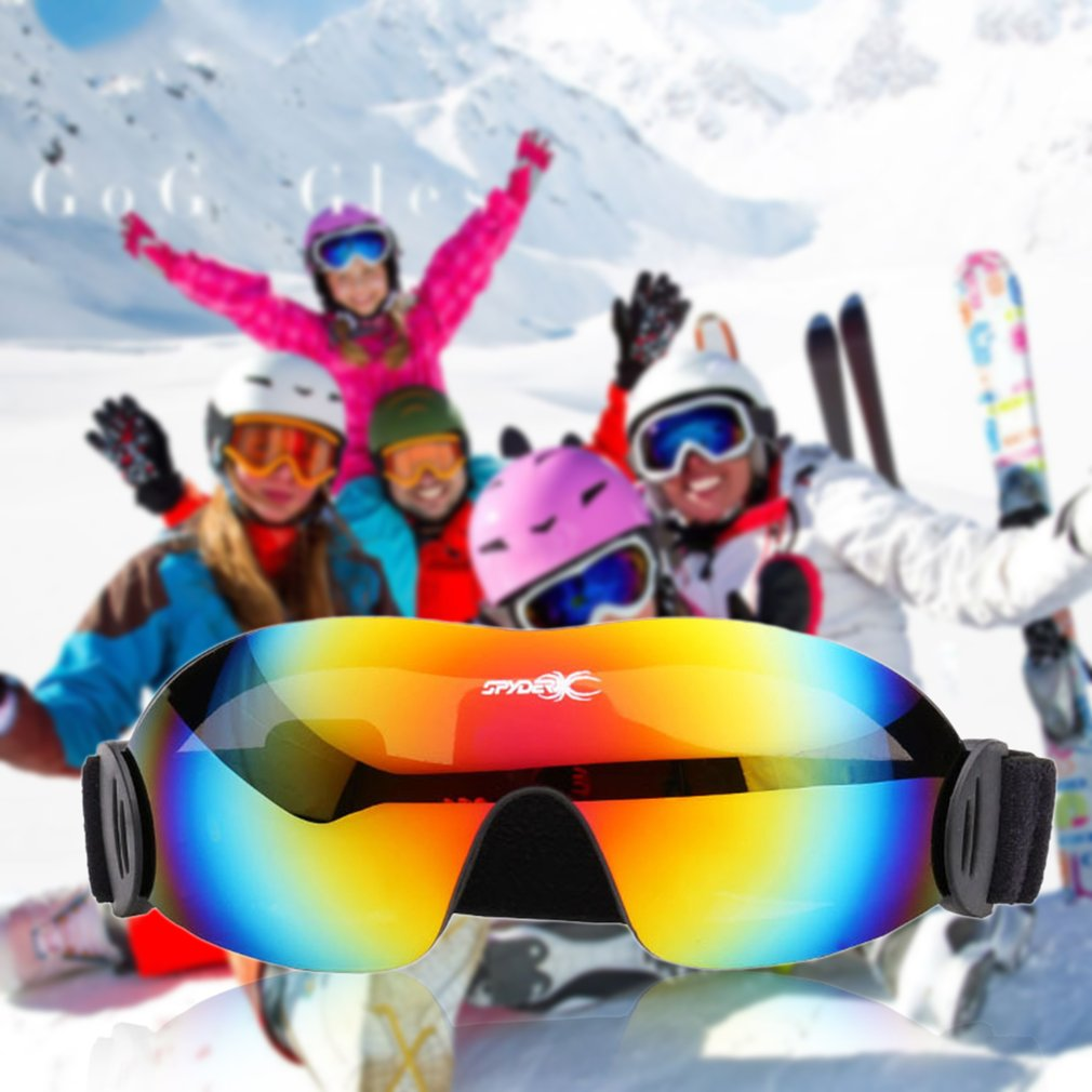 Comfortable Fashionable Men Women Ski Goggles UV Protect Anti-Fog Outdoor Skiing Snowboard Motocross Eyewear Goggles by