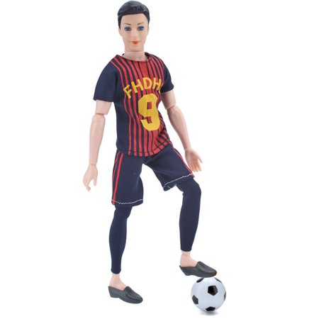 Fashion Male World Cup Footballer Dolls Clothes Doll Accessories Color:Number 18 Height:only clothes without doll - image 2 de 6