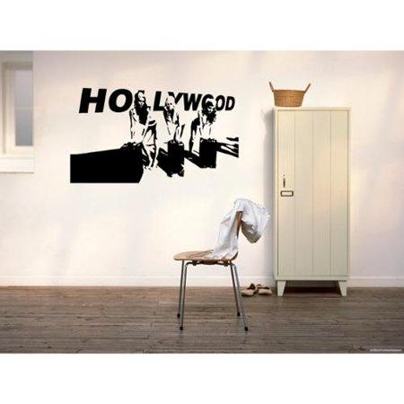 Stickalz llc Hollywood Girls Stars Wall Art Sticker Decal - Walmart.com