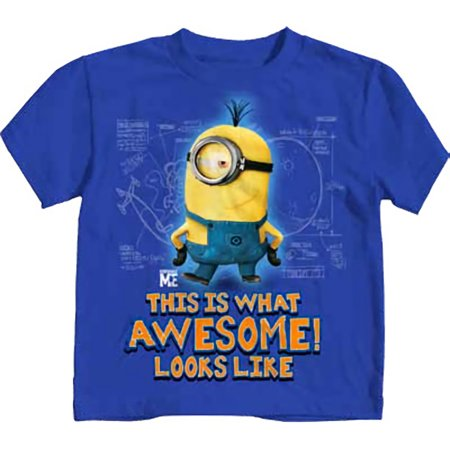 Despicable Me Awesome Royal Blue Juvy T-Shirt | L