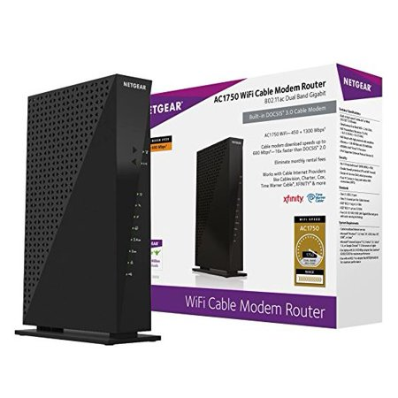 Netgear Ac1750  16X4  Docsis 3 0 Wifi Cable Modem Router  C6300  Certified For Xfinity From Comcast  Spectrum  Cox  Cablevision   More