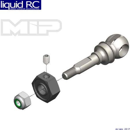 MIP 18151 CVD Axle 11mm Offset W/ 10mm X 5mm Bearing (Mip Cvd Axle)