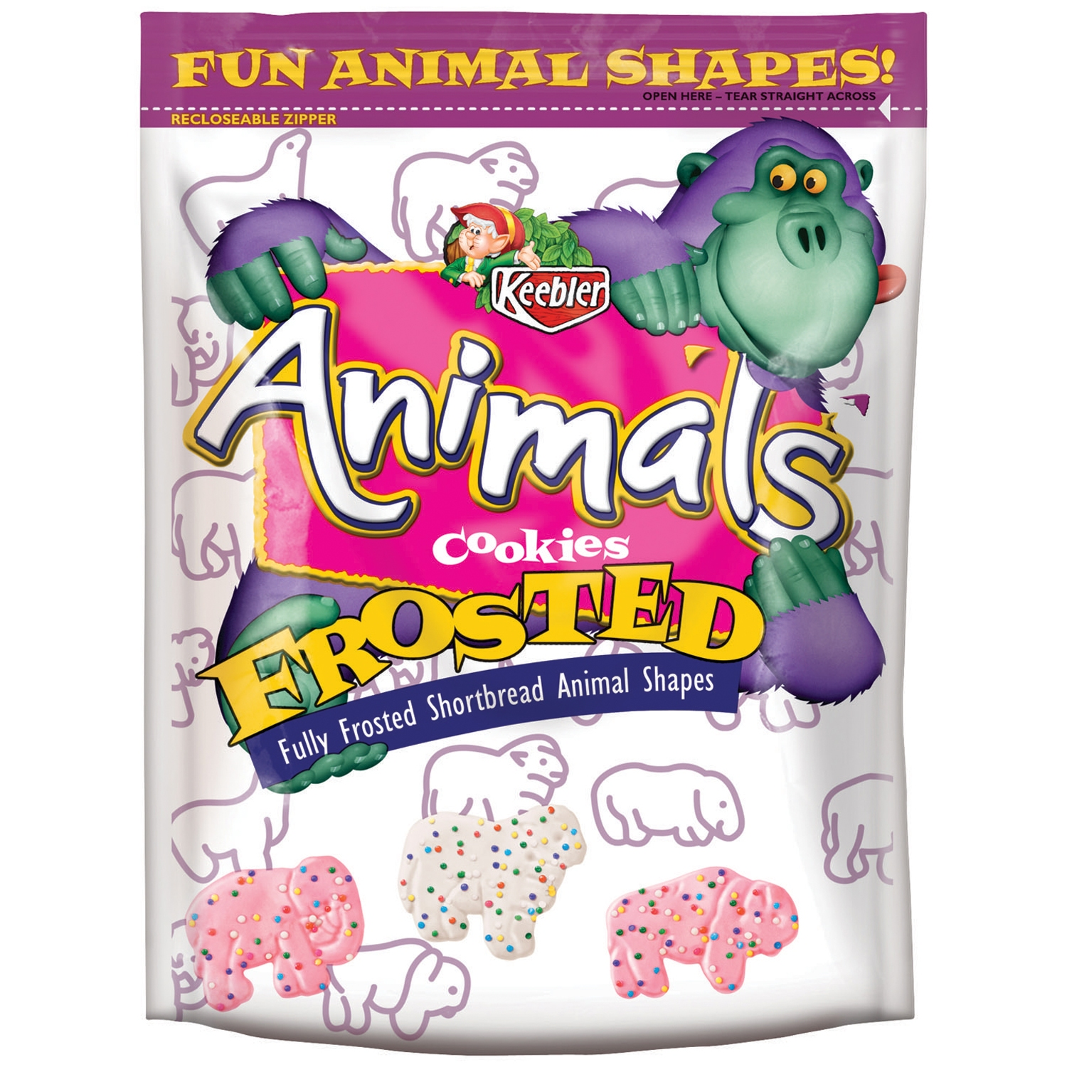 Keebler Frosted Animal Shortbread Shape Cookies, 13 oz by Kellogg Company