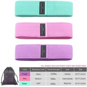 Resistance Booty Bands for Women Exercise Bands Set For Legs and Butt Working Out Non-Slip Fabric Workout Hip Bands With Convenient Carrying Bag