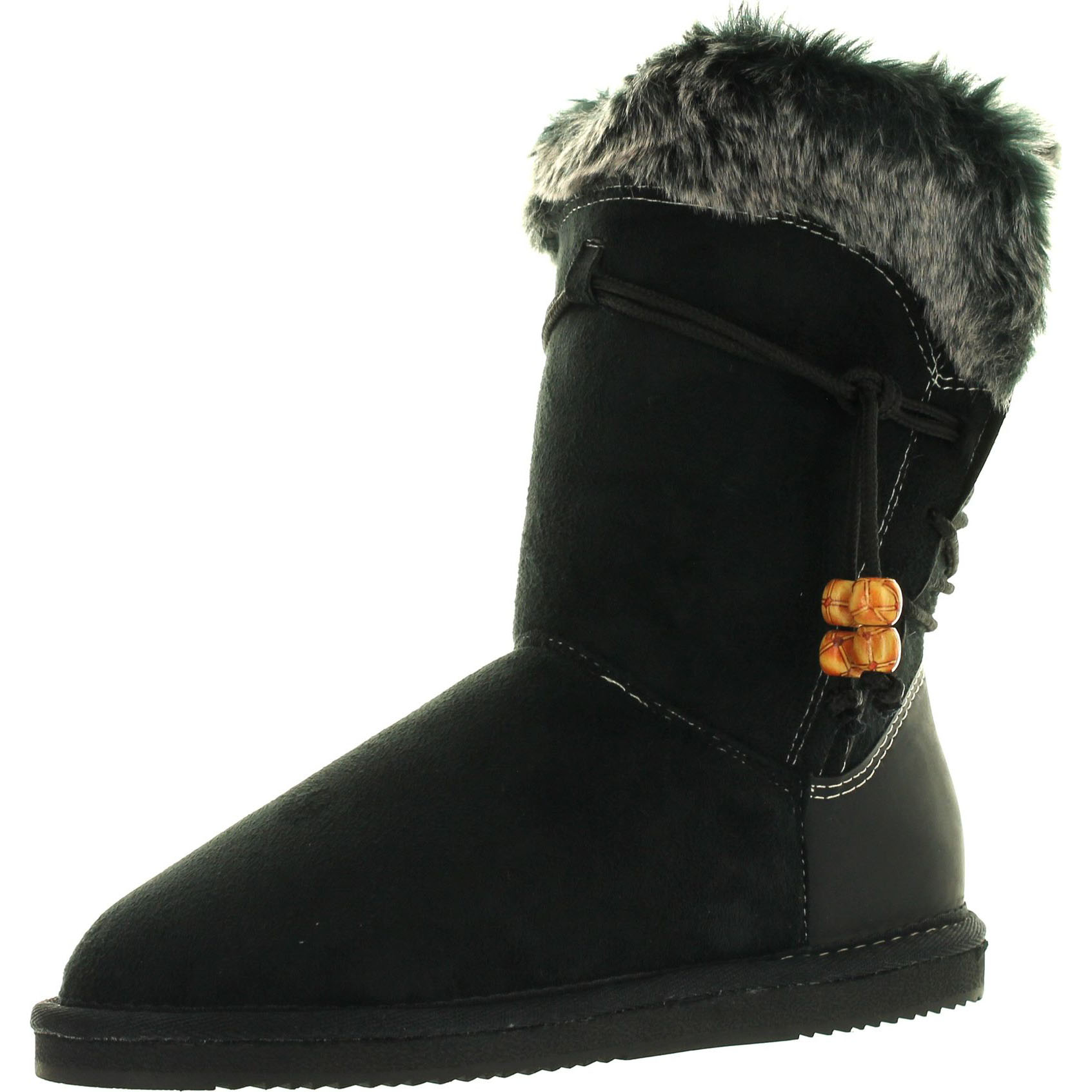 Reneeze Rose-10 Women Fashion Mid-Calf Winter Snow Boots Faux Fur Lining by Reneeze