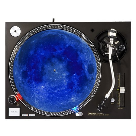 "KuzmarK™ 12"" DJ Turntable Slipmat - Blue Moon"