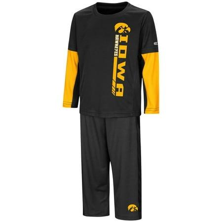 University of Iowa Hawkeyes Toddler Boy's Long Sleeve Shirt/Pant Set