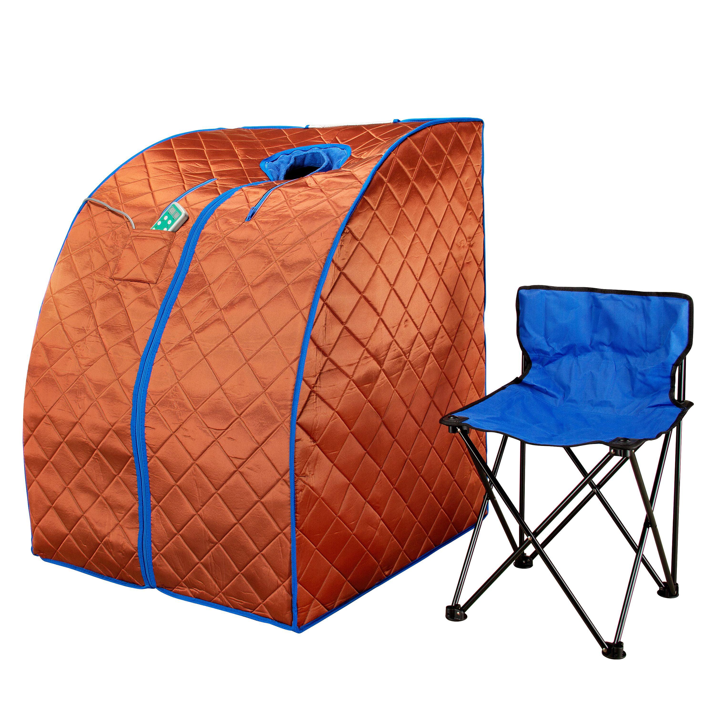Large Infrared IR FAR Portable Indoor Spa Sauna for Home Relaxation &  Enjoyment w/ Chair & Footpad - Walmart.com - Walmart.com