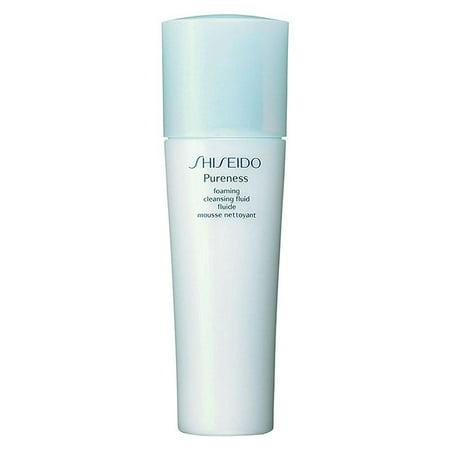 shiseido pureness foaming cleansing fluid foam cleanser for unisex, 5 ounce