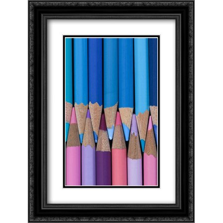 - Colored Pencils II 2x Matted 18x24 Black Ornate Framed Art Print by Mahan, Kathy