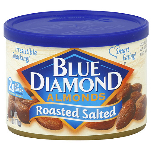 Blue Diamond Roasted Salted Almonds, 6 oz, 12ct (Pack of 12)