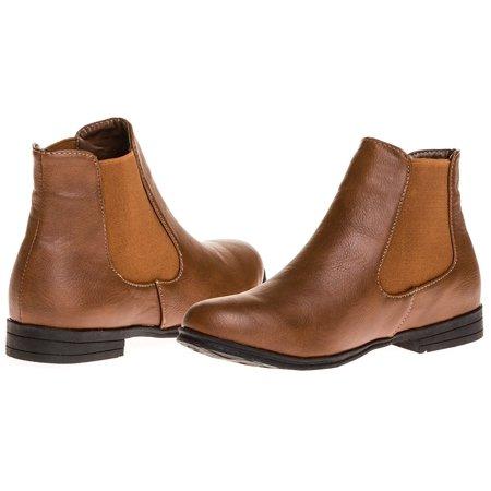 Sara Z Ladies Pu Chelsea Boot (Cognac), Size 6