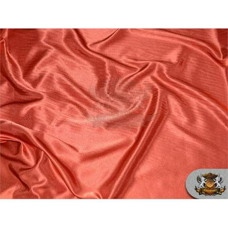 Satin Crepe Solid Fabric RUST / 60
