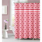 Luxury Home Pinwheel Shower Curtain, Coral - 72 x 72 inch