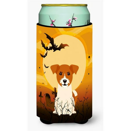 Halloween Jack Russell Terrier Tall Boy Beverage Insulator Hugger - Chris Russell Halloween