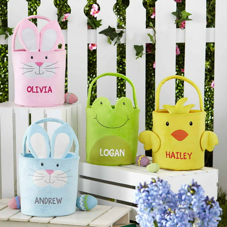 Personalized Easter Friends Plush Easter Baskets