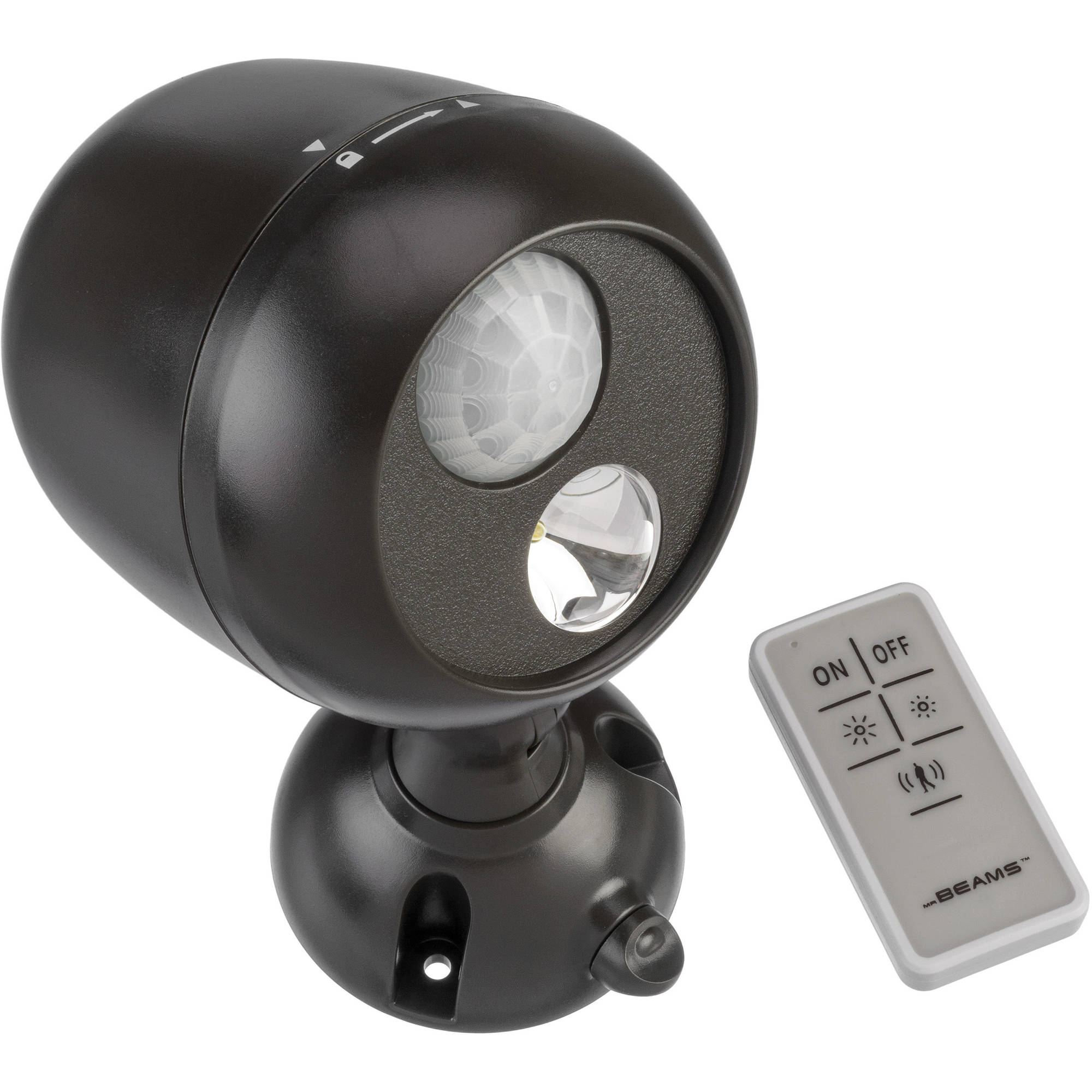 Mr Beams Wireless Motion Sensing 140 Lumen LED Spotlight with Remote Control, Brown