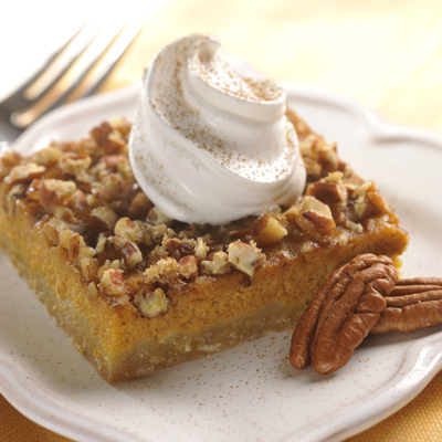 Pumpkin Peacan Pie Squares Recipe