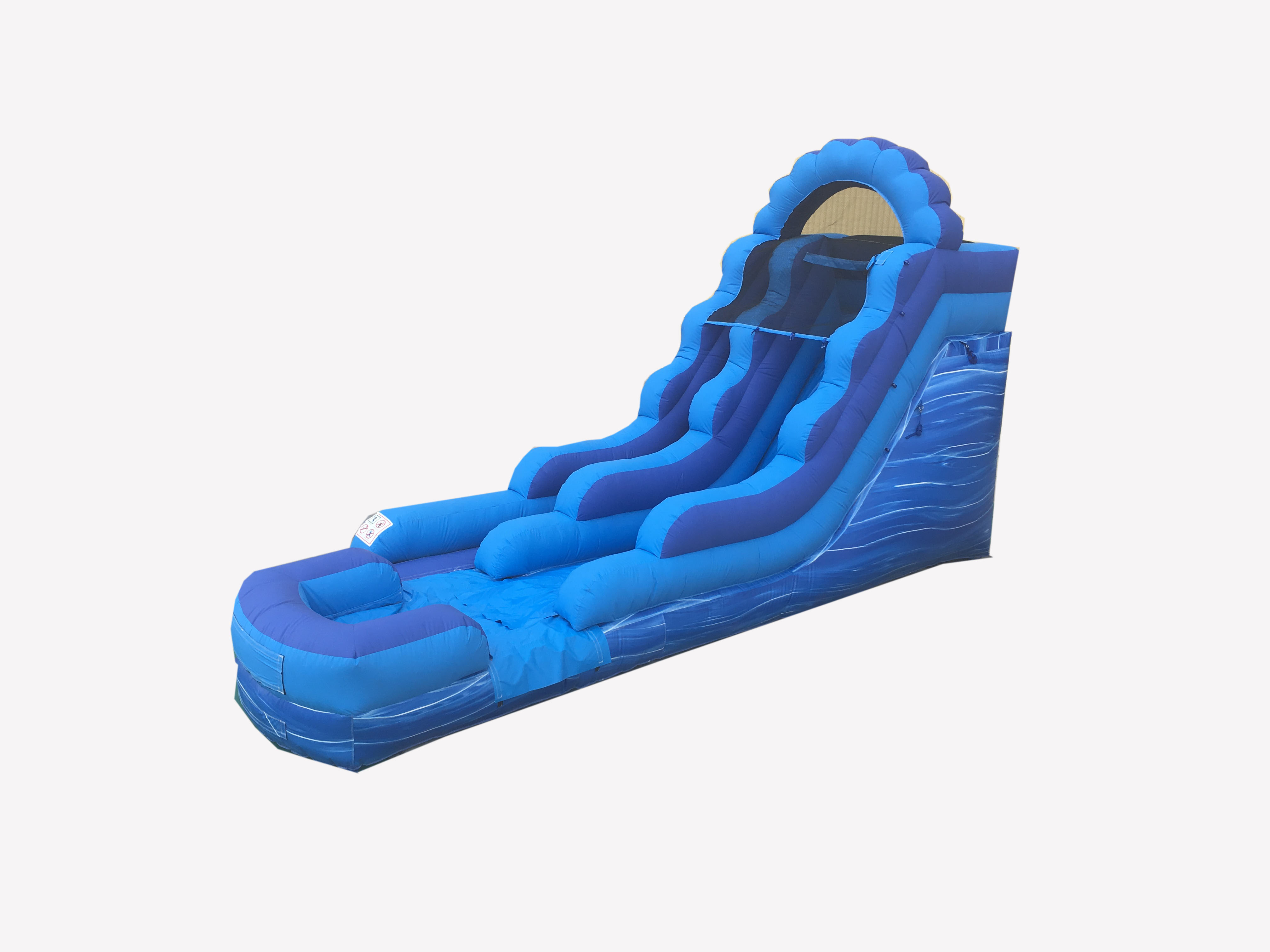 Click here to buy Pogo 15' Blue Marble Commercial Inflatable Waterslide with Blower Kids Bouncy Jumper by Pogo Bounce House.