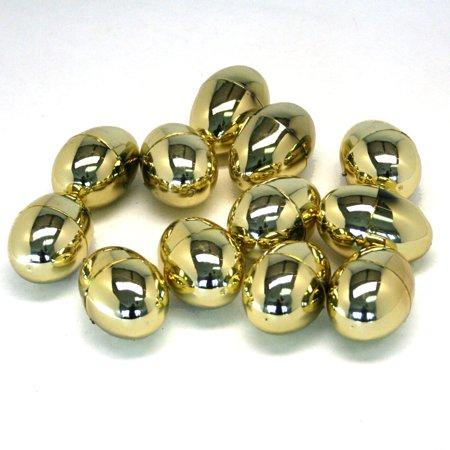 Metallic Golden Hinged Easter Eggs (Gold Eggs)