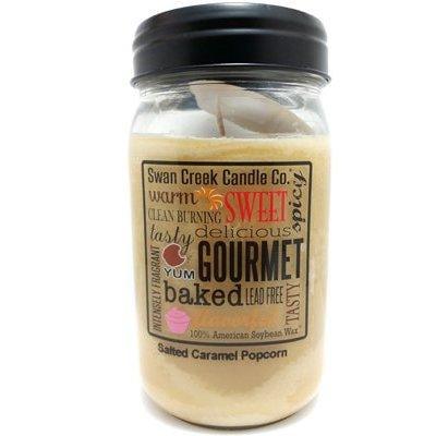 swan creek candle co. salted caramel popcorn (24 oz)