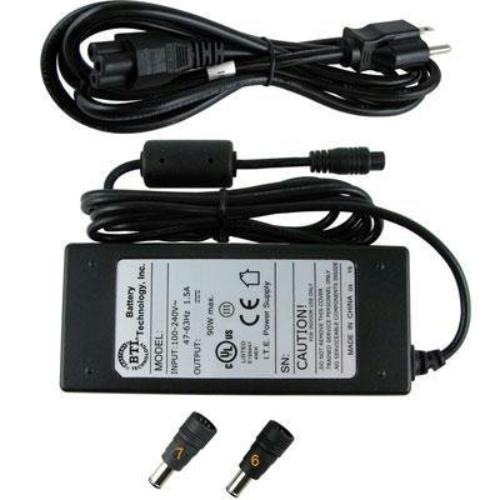 Battery Technology - AC-U90W-SY - BTI 90W AC Adapter - For Notebook - 90W - 16V DC to 19V DC