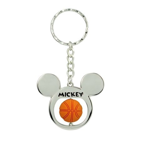Mickey Mouse Basketball Spinning Keychain
