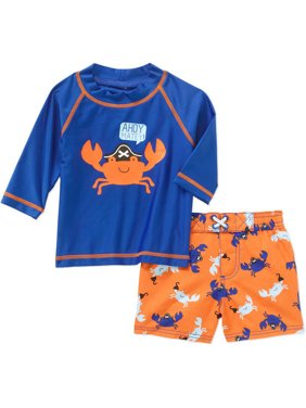 Baby Boy 2 Piece Rash Guard Swim Set, Online Exclusive