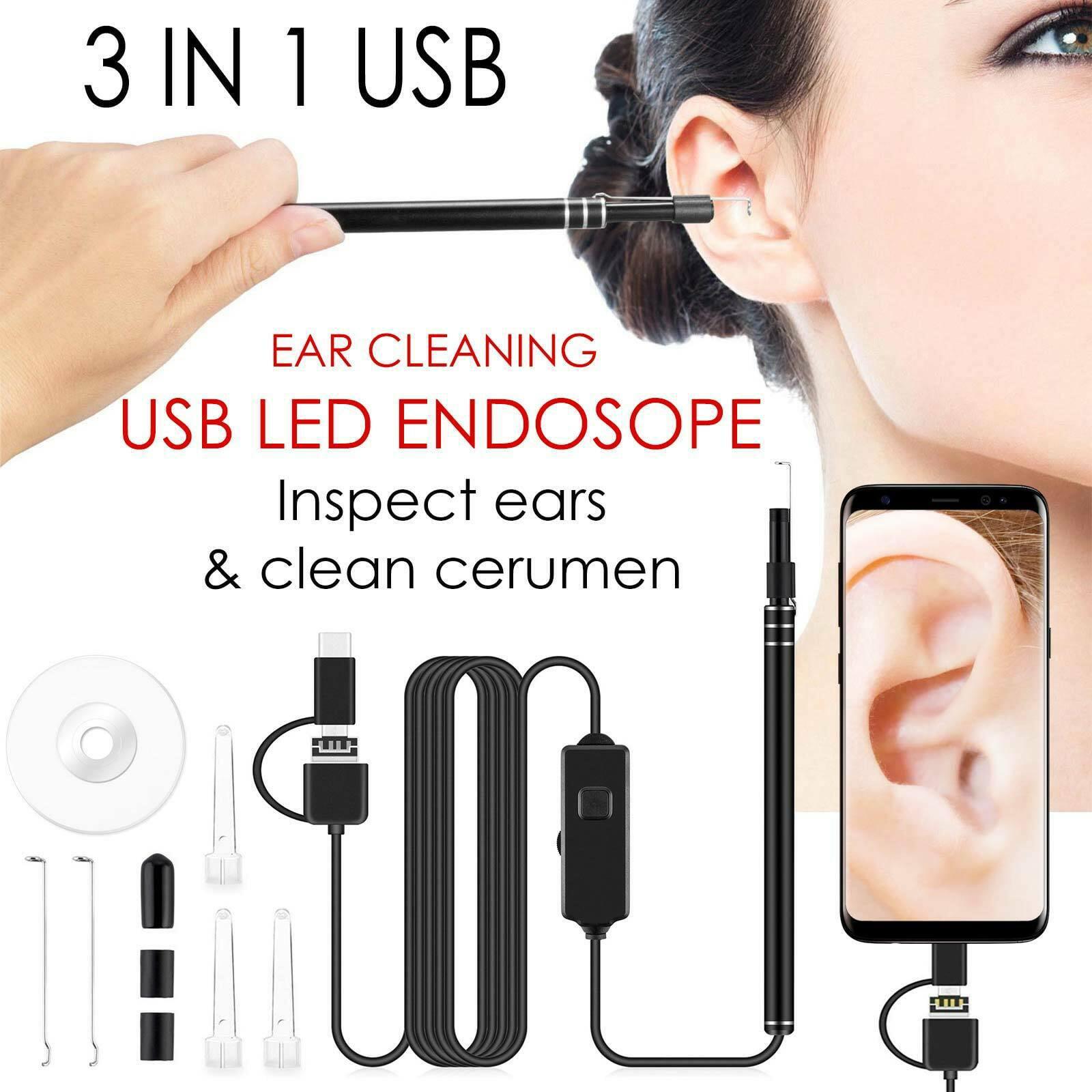 LED Endoscope Otoscope Ear Nasal Dental Intraoral Digital Camera Scope Earwax Removal Kit Ear Wax Cleaning Tool