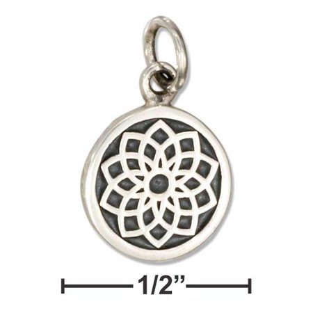 Plum Island Silver P-020428 Sterling Silver Crown Chakra 7th Chakra Charm with Sahasrara in Sanskrit - image 1 of 1