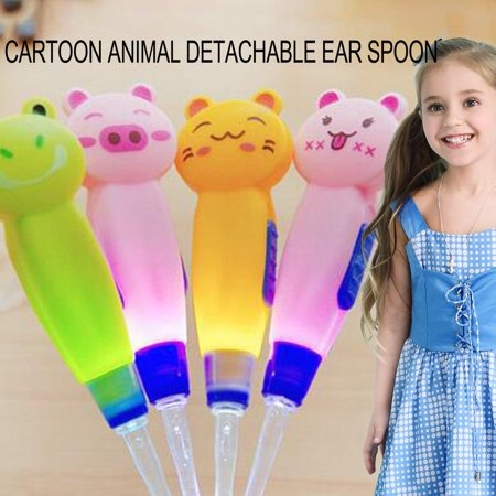 Detachable Ear Spoon Abs Plastic Cartoon Animals Illuminated Ear Spoon Visible Ear Pick Spoon Tools 1 Piece - image 3 of 4