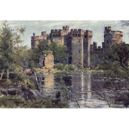British Castles 1911 Bodiam Castle Sussex Poster Print By  Wilfrid Ball