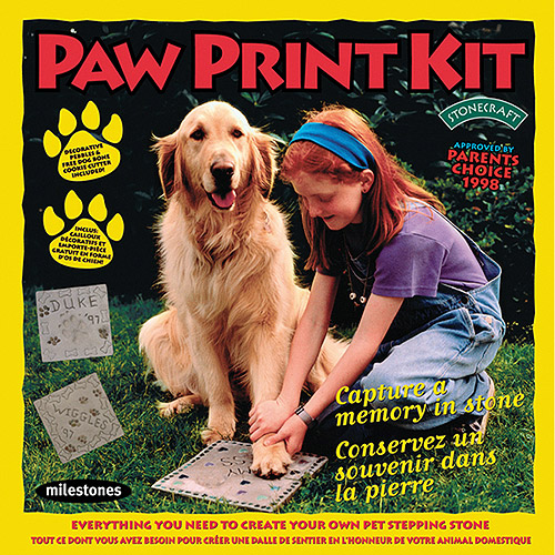 Milestones Paw Print Stepping-Stone Kit
