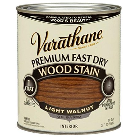 Varathane 262015 1 Quart Light Walnut Fast Dry Wood Stain
