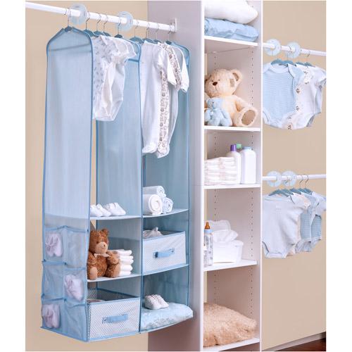 Delta - 24-Piece Nursery Closet Organizer, Baby Blue