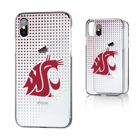 best service b1ec7 46e2d WSU Washington State Cougars Dots Clear Case for iPhone X