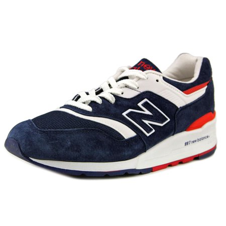 new style 537ba 95138 New Balance - New Balance M997 Men Round Toe Suede Blue Sneakers -  Walmart.com