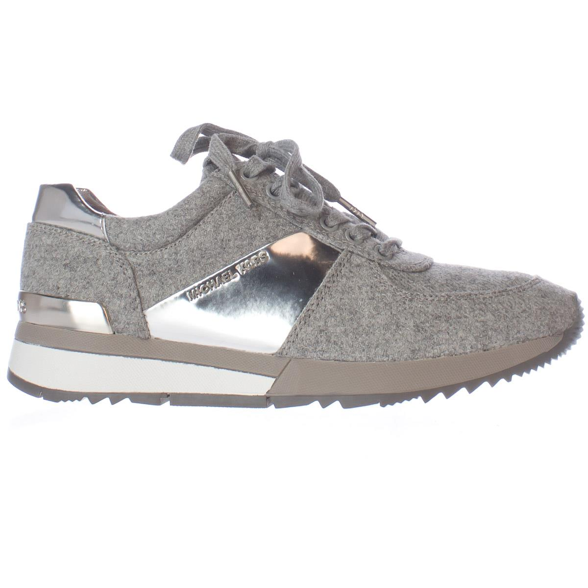 61b2bdeb48b06 Michael Kors - Womens MICHAEL Michael Kors Allie Trainer Sneakers - Pearl  Grey Silver - Walmart.com