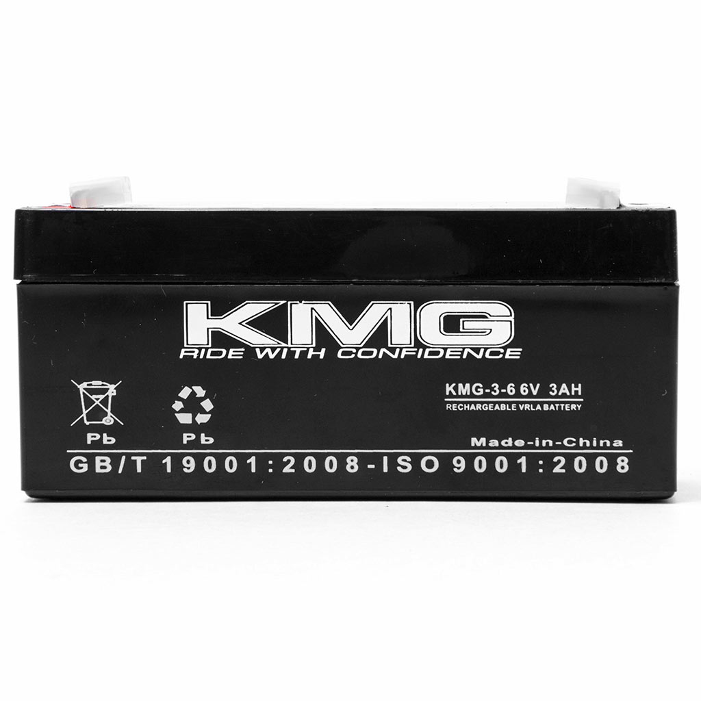 KMG 6V 3 Ah Replacement Battery for Narco Air Shields SYSTEM 5 / 6 - image 2 de 3