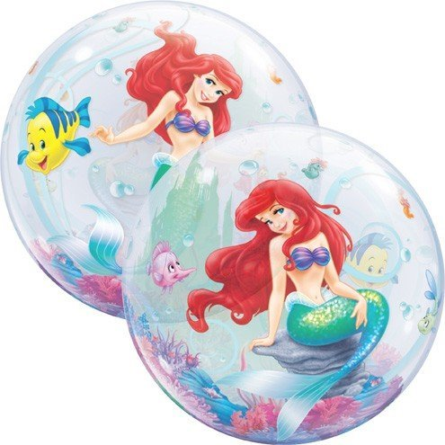 Little Mermaid Ariel Bubbles Stretchy Plastic Balloon 22""