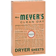 Dryer Sheets: Mrs. Meyer's