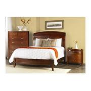 Brighton 3 Pc Sleigh Bedroom Set in Cinnamon Finish (Twin)