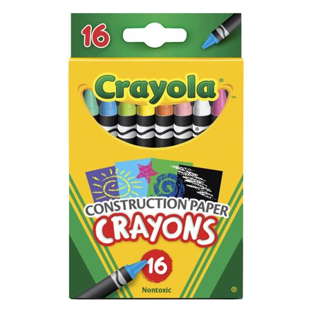 Crayola Construction Paper Crayons, 16 Count Per Box, Set Of 6 Boxes - Box Of Crayons