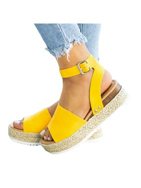 2a010bad31 Product Image UKAP Womens Platform Sandals Open Toe Espadrille Ankle Strap  Boho Summer Casual Buckle Shoes